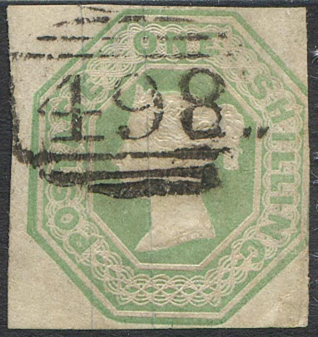 SG54 1/-Pale Green Fine Used