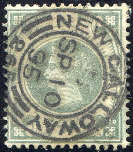 SG211 1/- Dull Green Very Fine Used CDS