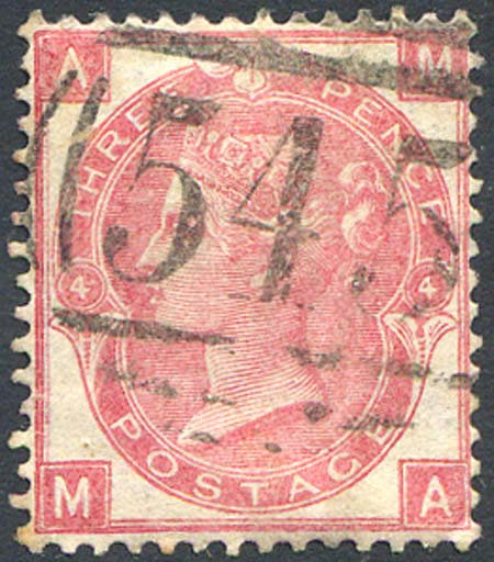 SG92 3d Rose Fine Used 545 Newcastle On Tyne Cancel