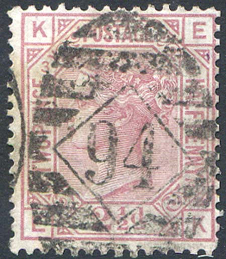 SG139 2 1/2d Rosy Mauve Plate 3 Fine Used