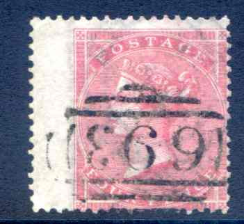 SG64 4d Carmine Fine Used Left Hand Wing Margin