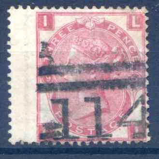 SG103  3d Rose Plate 9 LH Wing Margin Fine Used