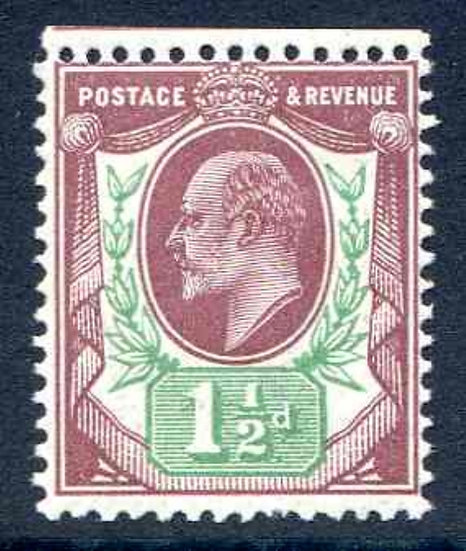 SG287 1 1/2d Reddish Purple and Bright Green Unmounted Mint
