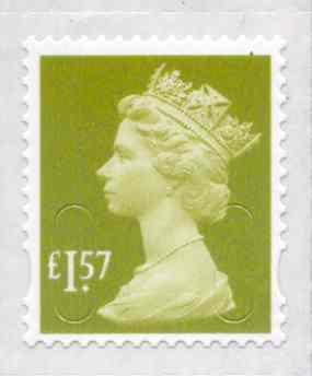 U2948 £1.57 Yellowish Olive Unmounted Mint