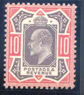 Spec M42/1 10d Dull Purple and Carmine Unmounted Mint