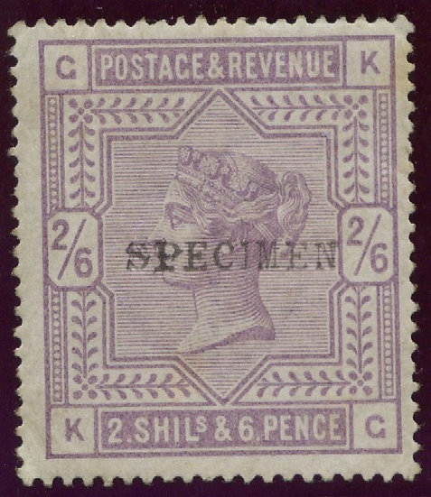 SG175s 2/6 Lilac Mounted Mint Specimen Overprint