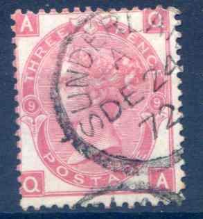 SG103  3d Rose Plate 9 Fine  Used Part Sunderland CDS
