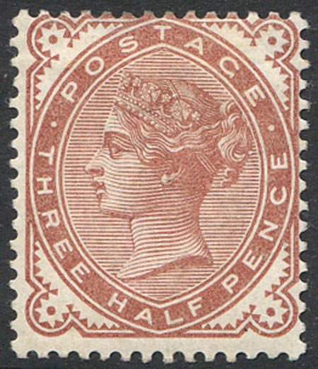 SG167 1 1/2d Venetian Red Mounted Mint