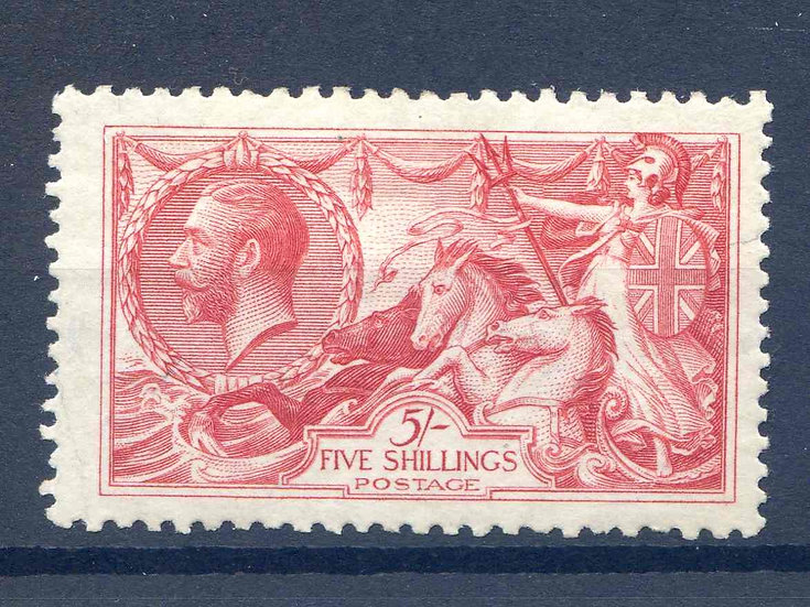 SG416 5/- Rose Red Mounted Mint