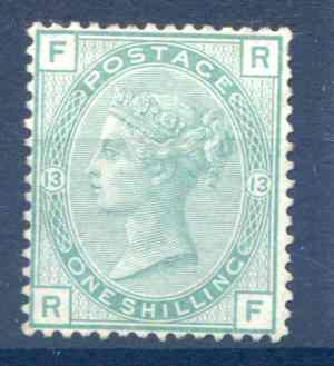 SG150 1/- Green Plate 13 Unused