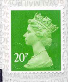 U2924 20p Bright Green M17L Unmounted Mint