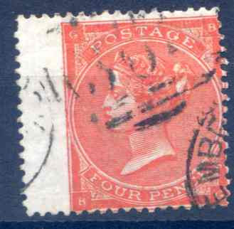 SG79 4d Bright Red Fine Used LH Wing Margin