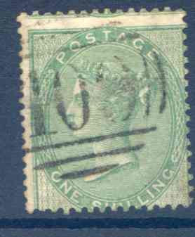 SG72 1/- Green Fine Used