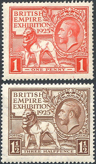 SG432/3 1925 British Empire Exhibition Set Unmounted Mint