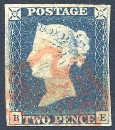 1840 2d Blue (BE) Fine Used Red MX