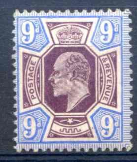 Spec M39/2 9d Slate Purple & Ultramarine Unmounted Mint