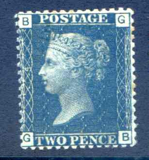SG47 2d Blue Plate 14 Mounted mint