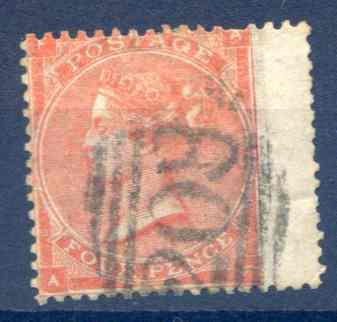 SG80 4d Pale Red Fine Used RH Wing Margin