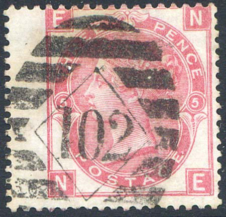 SG103 3d Rose Plate 5 Fine Used LH Wing Margin