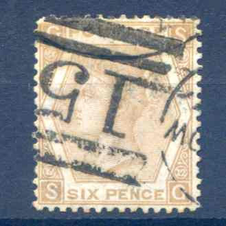 SG123 6d Pale Buff Used