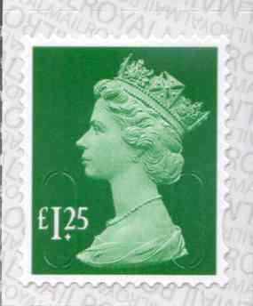 U2938£1.25 Emerald Unmounted Mint