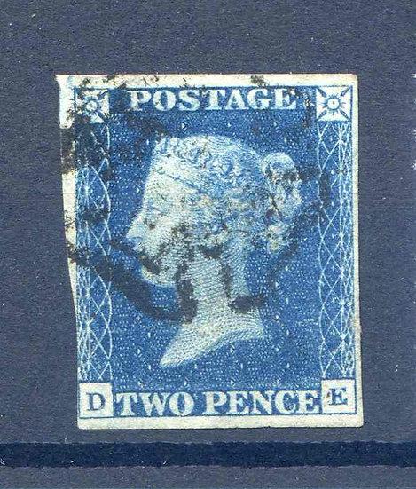 1840 2d Blue (DE) Fine Used