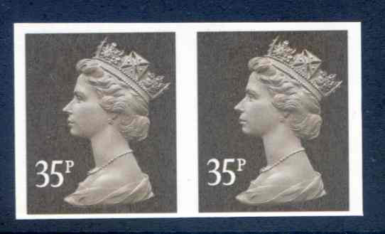 SGY1700a 35p Imperf Pair Unmounted Mint
