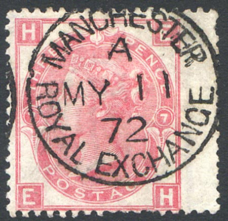 SG103 3d Rose Plate 7 Very Fine Used Manchester Royal Exchange CDS