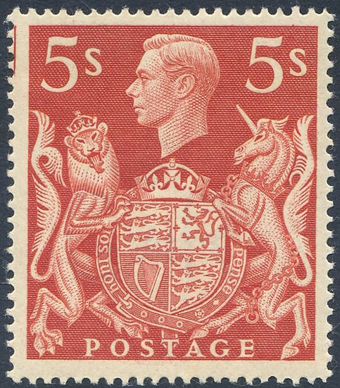 SG477 5/- Red Unmounted Mint