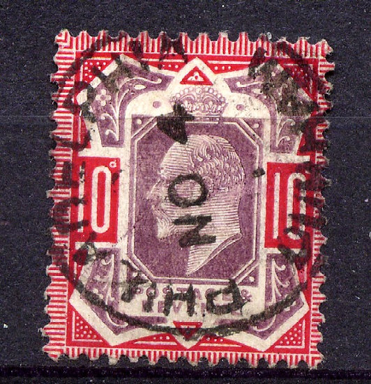 SG256 10d Dull Purple & Scarlet Very Fine Used CDS