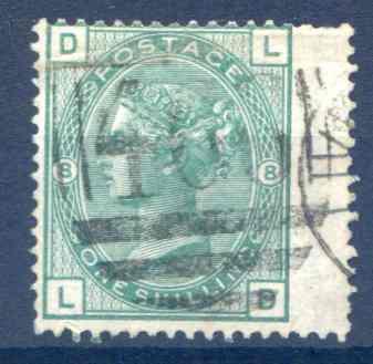 SG150 1/- Green Plate 8 Fine Used RH Wing Margin