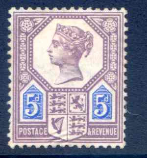 SG207 5d Purple and Blue Die 1 Mounted Mint