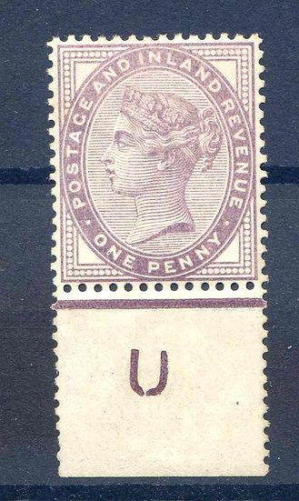 1d Lilac SG171 U Control Mounted Mint