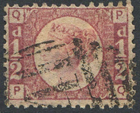 SG48 1/2d Rose Red Plate 3 Fine Used