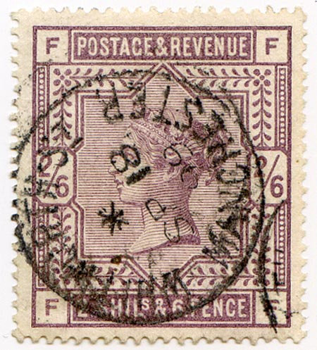 SG179 2/6 Deep Lilac Fine Used Manchester CDS