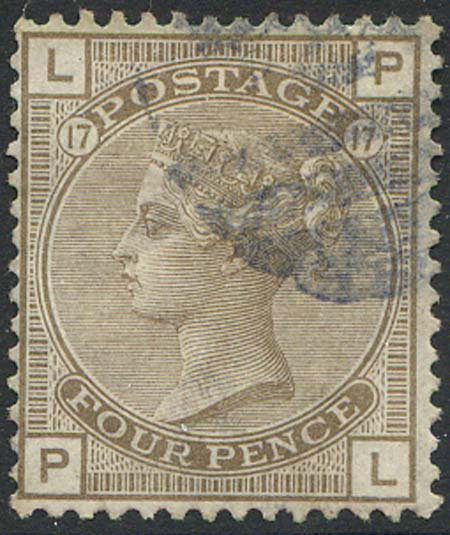 SG160 4d Grey Brown Plate 17 Fine Used
