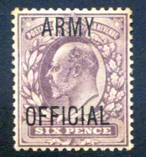 SG050 6d Pale Dull Purple Army Official Overprint Mounted Mint