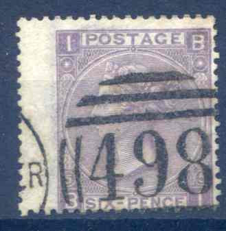 SG97 6d Lilac Plate 5 LH Wing Margin Fine Used
