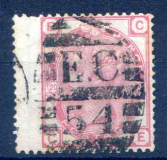 SG143 3d Rose Plate 20 Fine Used LH Wing Margin