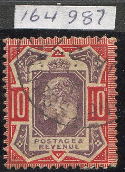SG256a 10d Dull Purple & Scarlet Very Fine Used RPS Certificate