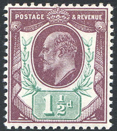 SG288 1 1/2d Dull Purple & Green Unmounted Mint