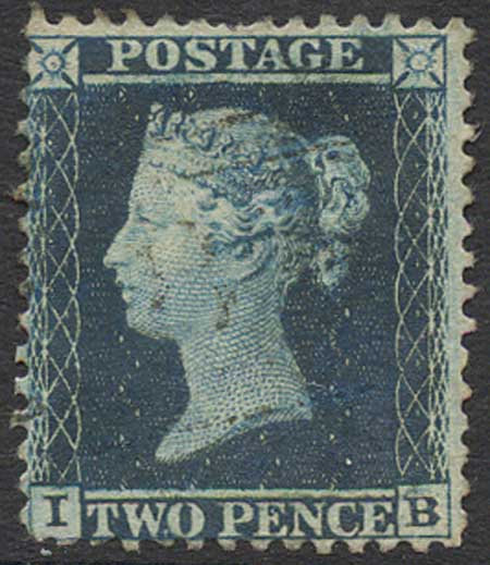 SG34 2d Blue Plate 5 Fine Used