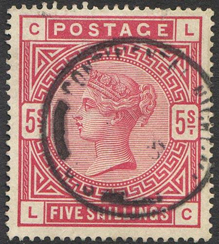 SG180 5/- Rose Fine Used