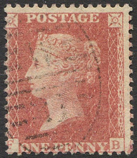 SG42 1d Rose Red C12 Plate 51 Fine Used