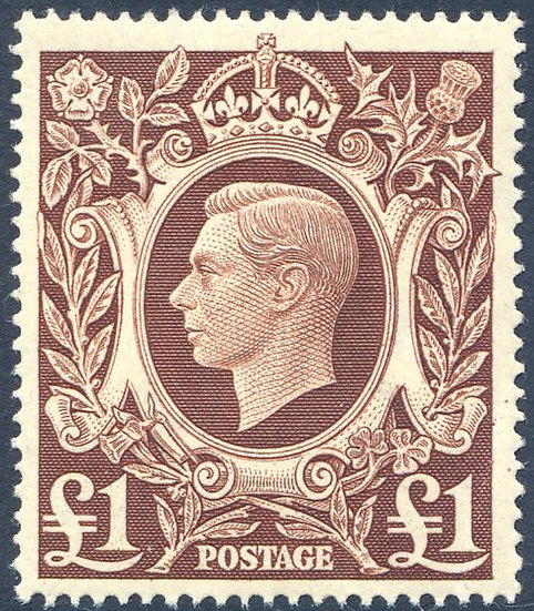 SG478c £1 Brown Unmounted Mint