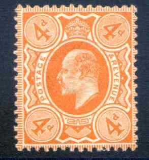 SG278 4d Bright Orange Perf 14 Unmounted Mint