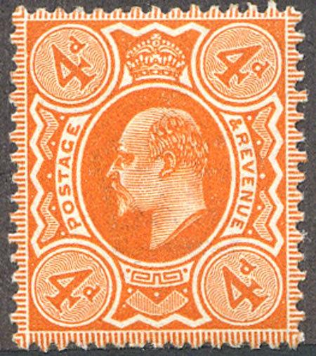 SG286Var 4d Very Deep Orange Mounted Mint Spec M27/3