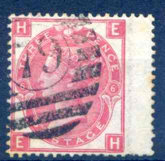 SG103  3d Rose Plate 6 RH Wing Margin Fine Used