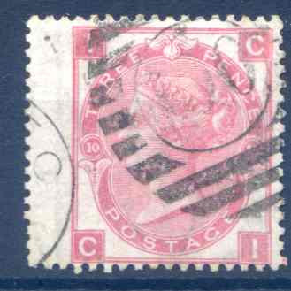 SG103  3d Rose Plate 10 LH Wing Margin Fine Used