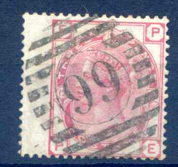 SG143 3d Rose Plate 12 Fine Used LH Wing Margin